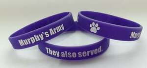 WB - MURPHY'S ARMY PURPLE POPPY CAMPAIGN SILICONE WRISTBAND