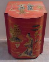 Vintage Asian / Oriental Design Tea Biscuit Tin Canister