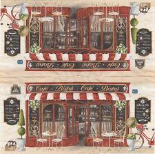 2 Serviettes en papier Café Bistrot Decoupage Paper Napkins Bar Pub