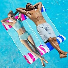 Inflatable Pool Floats for Adults 2 Packs Portable Water Hammock Pool Floats