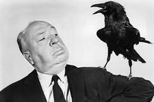 Alfred Hitchcock Looking Up At Bird On His Shoulder The Birds 11x17 Mini Poster