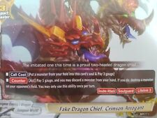 Buddyfight English PR/0273EN Fake Dragon Chief, Crimson Arrogant