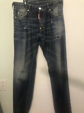Vintage DSQUARED2 Men's Skinny Fit Distressed Jean In Blue Size 46 Size 30