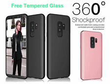Samsung Galaxy S9 Plus iPhone 11 Pro Case 360° Cover Shockproof + Tempered Glass