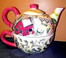 Tea For One by Michal Sparks Hand-Painted 3 Piece Tea Set