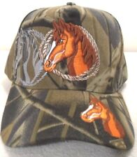 BALL CAP HORSE HEAD WITH SHADOW CAMOUFLAGE HAT