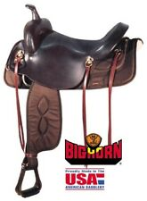 "Big Horn 17.5"" Brown Lightweight Synthetic Draft Horse Trail Saddle Model A00296"