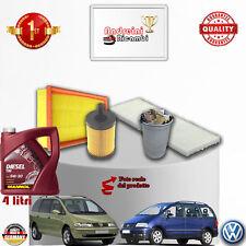 KIT TAGLIANDO FILTRI + OLIO VW SHARAN 2.0 TDI 103KW 140CV DAL 2005 -> 2011