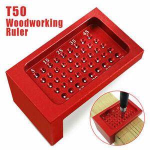 T-50 Measuring Tool Woodwork T-Type Scribe Mark Measurement Ruler Aluminum GL