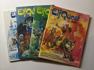 Elfquest Book 1 2 3 4 Lot Run Set Softcover Sc Near Mint- 9.2 Book 2 VF Donning