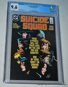 Suicide Squad 1 1987 CGC 9.6 White Pages DC Comic Book!