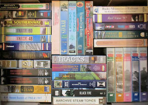 VHS Videos from £1.50 each - trains, railways & related