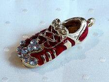 Un Brillante Chapado en oro Set Colgante Con Diamantes De Imitación &