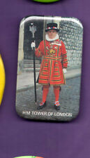 H M Tower of London - Beafeater - Yeoman of the Guard   -  Button Badge 1990's