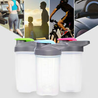 LN_ CO_ BL_ 500ML Big Capacity Outdoor Fitness Water Bottle Sports Protein Sha