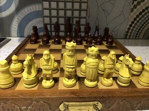 "Wooden Chess Set 16"" Board"