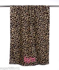 "PERSONALIZED Velour Beach or Bath Towel Leopard Print 30"" x 60"""
