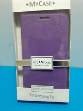SAMSUNG S6  – WALLET COVER - PURPLE