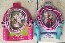 Disney Minnie/Frozen Deluxe Jump Rope -Pink & Purple - 7 feet Long - New