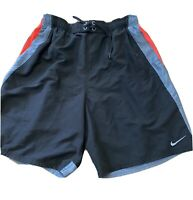 NIKE Mens Size Large Swim Trunks Board Shorts Lined Pockets