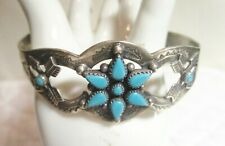 Sterling Silver And Turquoise Cuff Bracelet By Bell