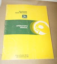John Deere Electronic Seed Monitors Operator's Manual
