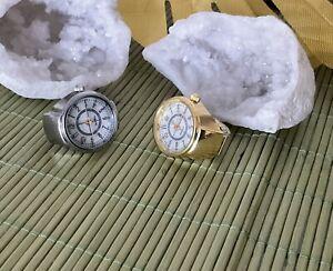 Ringuhr - 2 Fingeruhren; Farbe Gold / Silber , Universalgröße