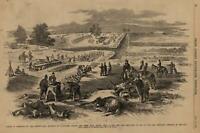 Battle of Antietam Pennsylvania Soldiers 1862 Civil War Leslie's old print