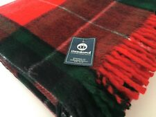 Manterol Soft Throw Plaid Blanket Checked 140x170cm with Fringe Red Green Black