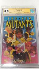 Marvel Graphic Novel #4 Adam Hughes Reprint (New Mutants #nn) CGC 8.0 Signed 2x