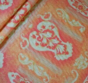 5m ORANGE Warwick MONARC Print Cotton Cushion Curtain Upholstery Fabric Material