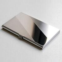 Visitenkarten Business Etui Card Box Visitenkartenhalter Alu Metall Silber A7P9