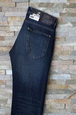 Lee Indigo, Dark wash Long Low Rise Jeans for Men