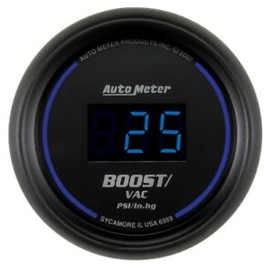 "Auto Meter 6959 2-1/16"" Cobalt Digital Boost/Vacuum Gauge 30"" HG/30 PSI NEW"