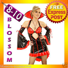 8421 Ladies Vampire Halloween Fancy Dress Costume Outfit S/M 8/10