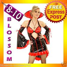 8421 Ladies Vampire Halloween Fancy Dress Costume Outfit S/M 8/10
