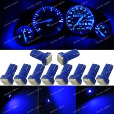 10x Deep Blue T5 73 74 Instrument Gauge Car Dashboard LED Light Bulb For Nissan