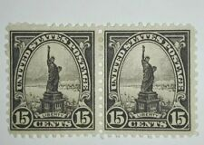 Travelstamps: 1931 US Stamps Scott #696 Pair, Statue of Liberty,15¢, MOGLH, MINT
