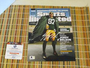 Jordy Nelson Green Bay Packers Signed Sports Illustrated Magazine Photo GA COA