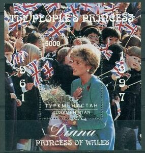 Turkmenistan 1997 mini sheet MNH** Princess Diana