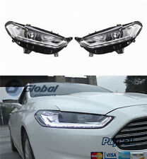GA Headlights With LED High Light Sequential Turn Light Fits  2013-2016 Ford