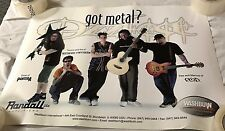 "Randall Amplifiers  & Washburn guitars Ozzfest ""Got Metal?"" poster"