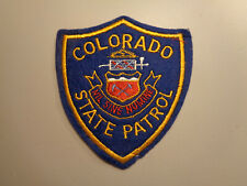 Vintage Colorado State Patrol Police Shoulder Patch Embroidered Felt Cheesecloth