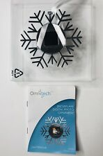 OmniTech Digital Photo Silver Snowflake Ornament Holds Up To 200 Images