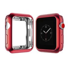 Soft Silicone TPU Bumper Frame Case Cover For Apple Watch SE Series 6 5 4 3 2 1