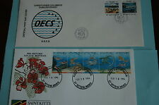 First Day Cover, Saint Kitts, 1994, Collectible (2 Envelopes with stamps)