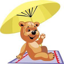 30 Custom Beach Blanket Bear Personalized Address Labels