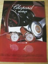 CHOPARD MILLE MIGLIA SPORTING WATCH POSTER ADVERT READY FRAME A4 SIZE FILE K