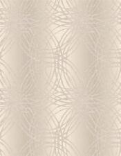Taupe Glitter Wallpaper Textured Metallic Leon Geometric Circles Luxury Feature