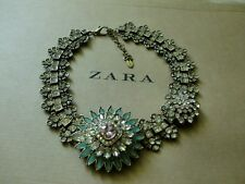 Zara Ethno mega statement Kette necklace boho top Blogger Glitzer gold Collier